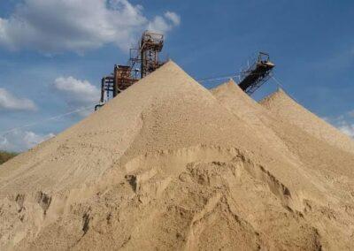 Distribuição de areia