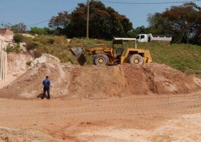 Campos Distribuição de areia