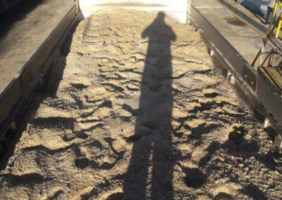 Carregamento de areia carga reta